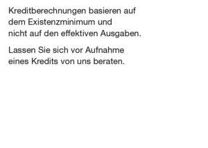 Budget- und Schuldenberatung Aargau–Solothurn: Postkarte «Günstige Kredite» (Rückseite)
